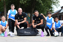 Coady and Ruddy surprise kids for PL Kit & Equipment Scheme