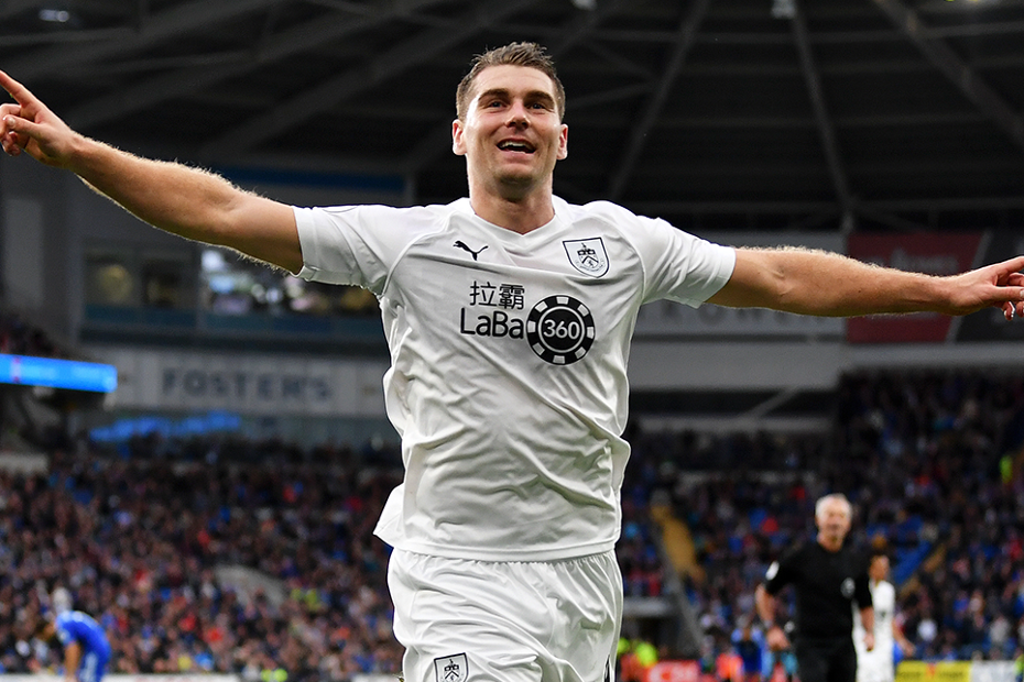 Sam Vokes, Burnley v Cardiff City
