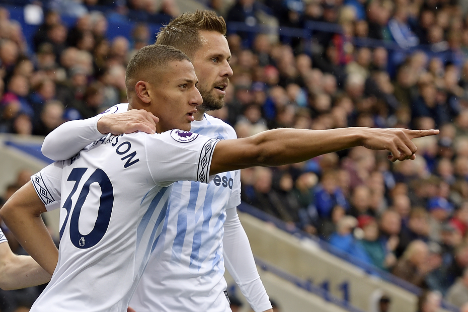 Richarlison and Gylfi Sigurdsson, Everton