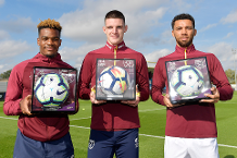 West Ham's Diangana, Rice and Fredericks receive PL Debut Balls