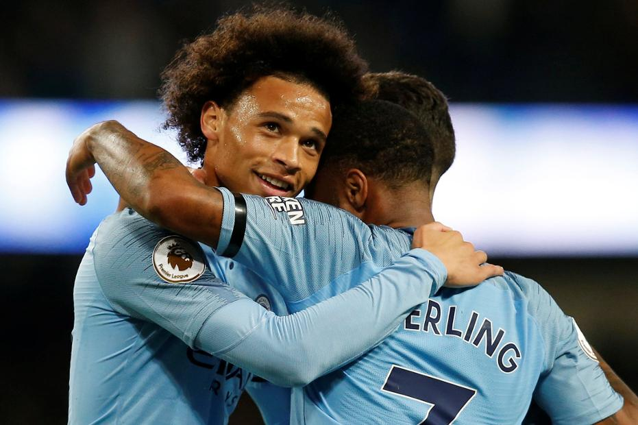 Leroy Sane, Man City v Southampton