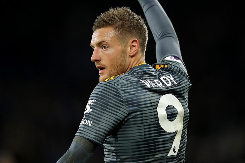Leicester City's Jamie Vardy v Cardiff City