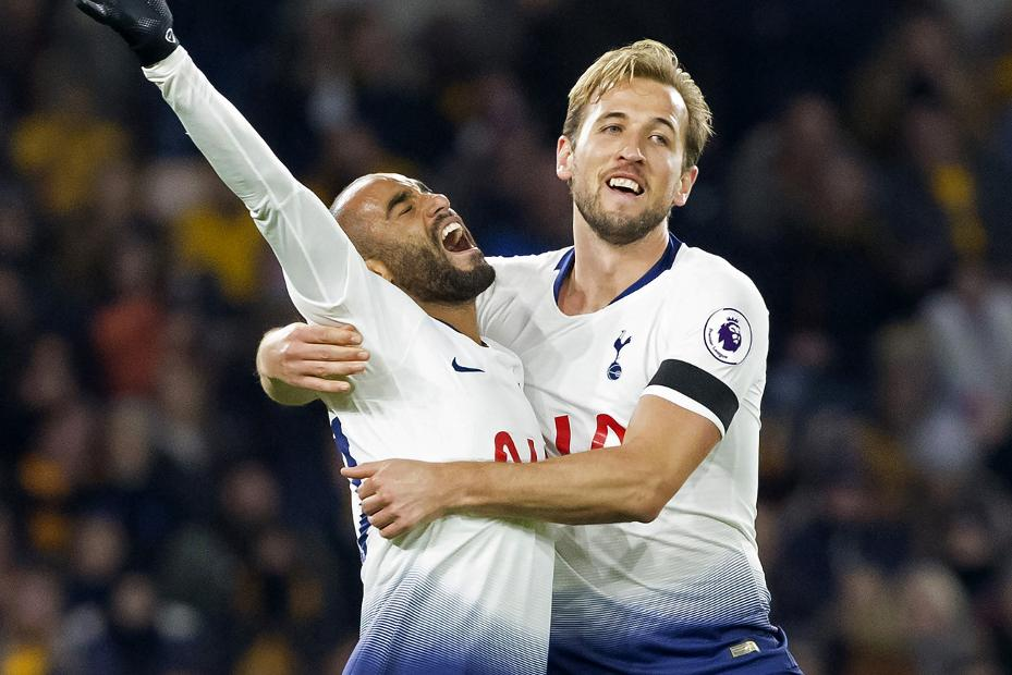 Lucas Moura and Harry Kane, Spurs