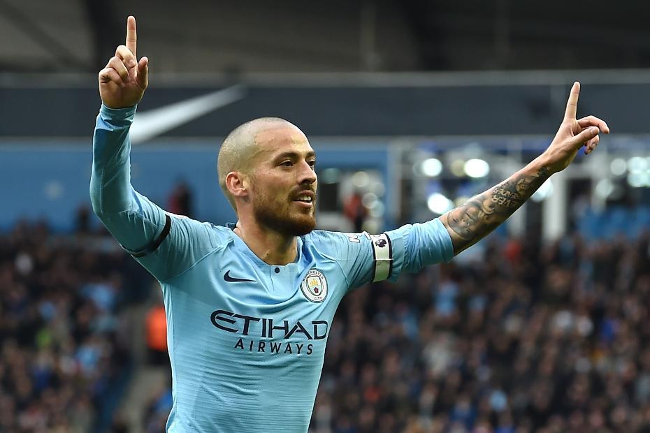 David Silva, Man City celebrates
