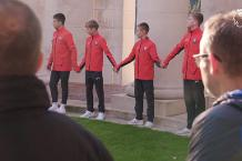 Southampton and Liverpool youngsters' WWI tribute