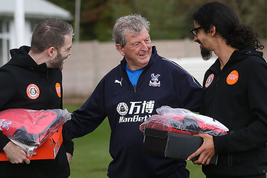 Scott and Raph meet Crystal Palace manager Roy Hodgson