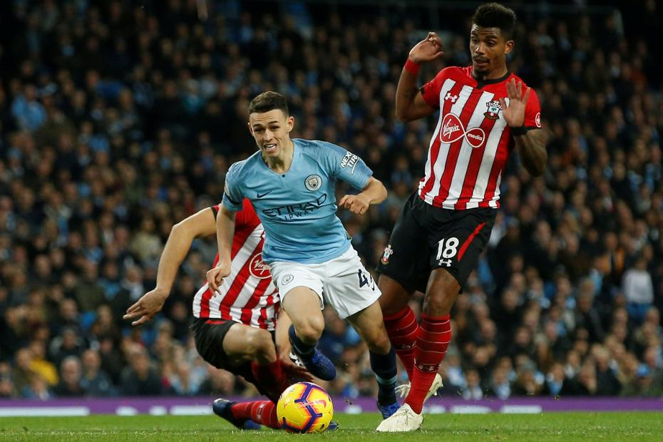 Phil Foden, Man City v Southampton
