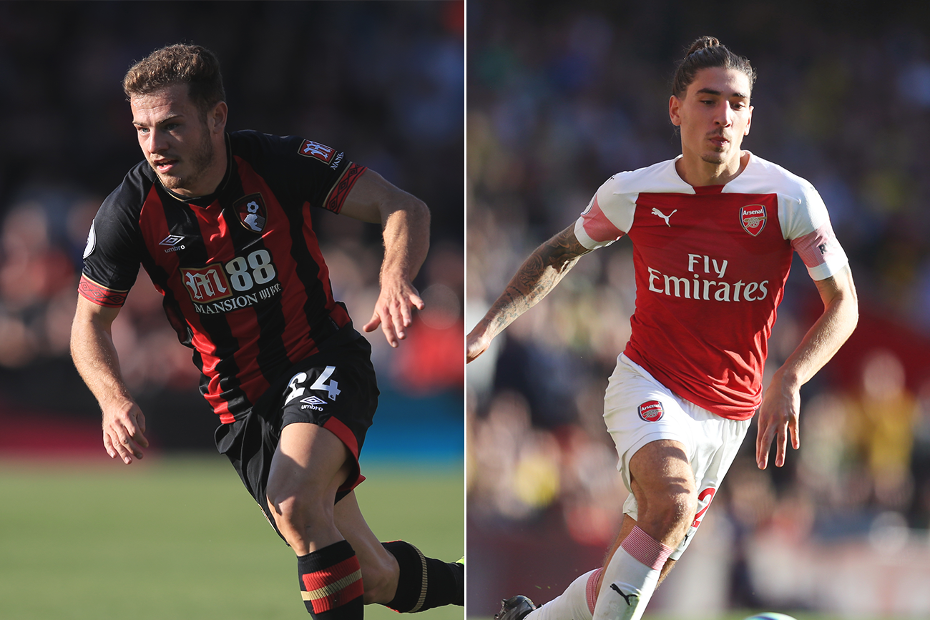 Ryan Fraser, AFC Bournemouth, and Arsenal's Hector Bellerin