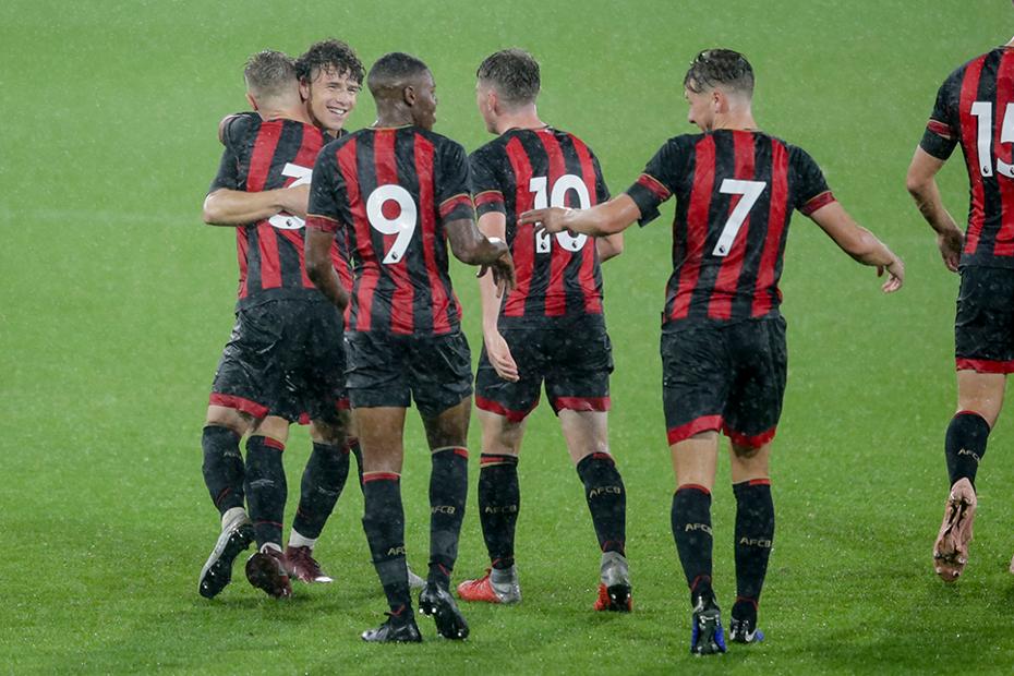 AFC Bournemouth celebrate scoring in PL Cup