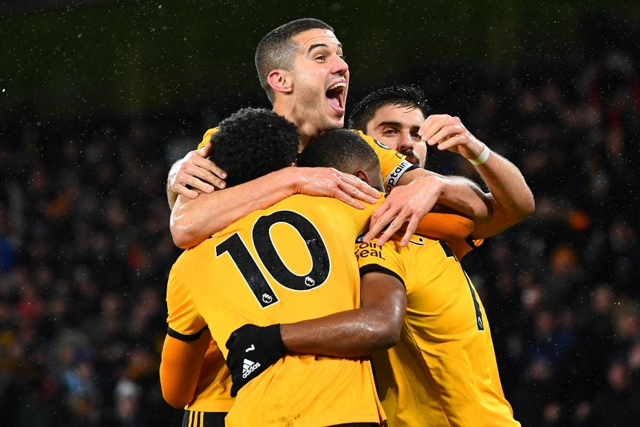 Conor Coady celebrates