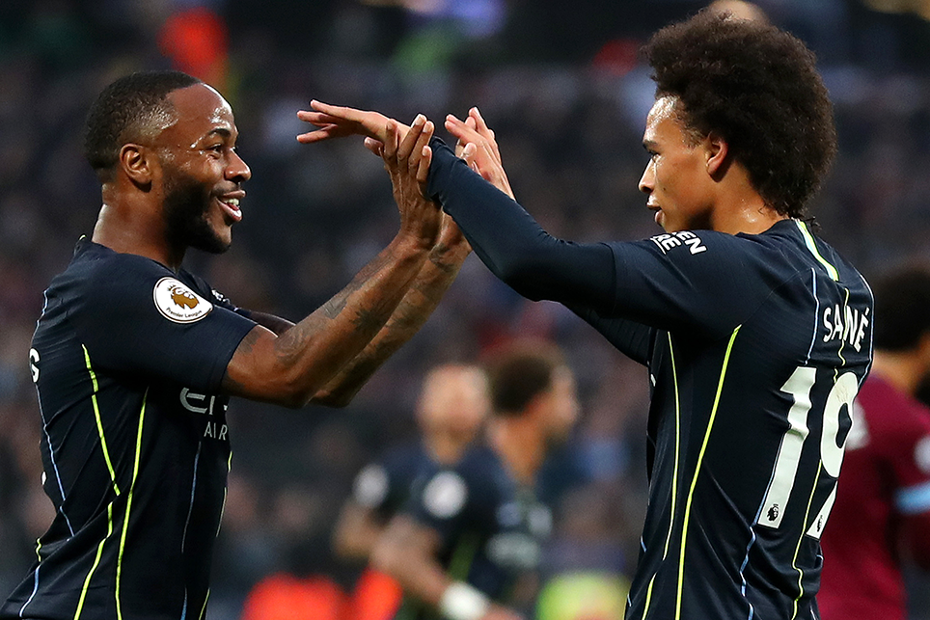 Raheem Sterling and Leroy Sane, Manchester City