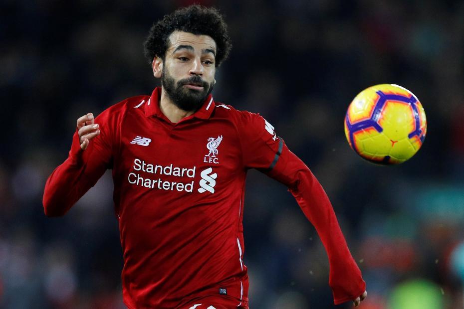 Mohamed Salah chasing ball