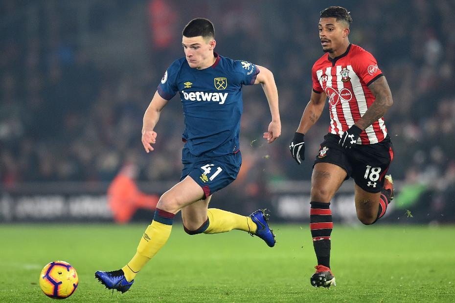 Declan Rice, Southampton v West Ham