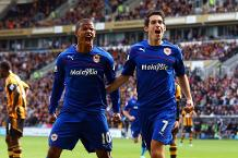 Goal of the day: Whittingham volleys in for Cardiff