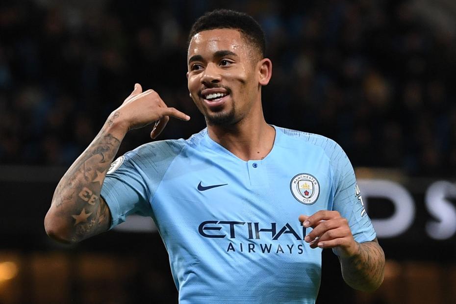 Gabriel Jesus, Man City v Wolves celebration