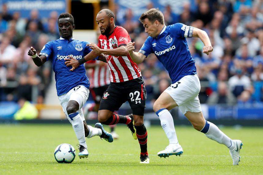 Nathan Redmond v Everton