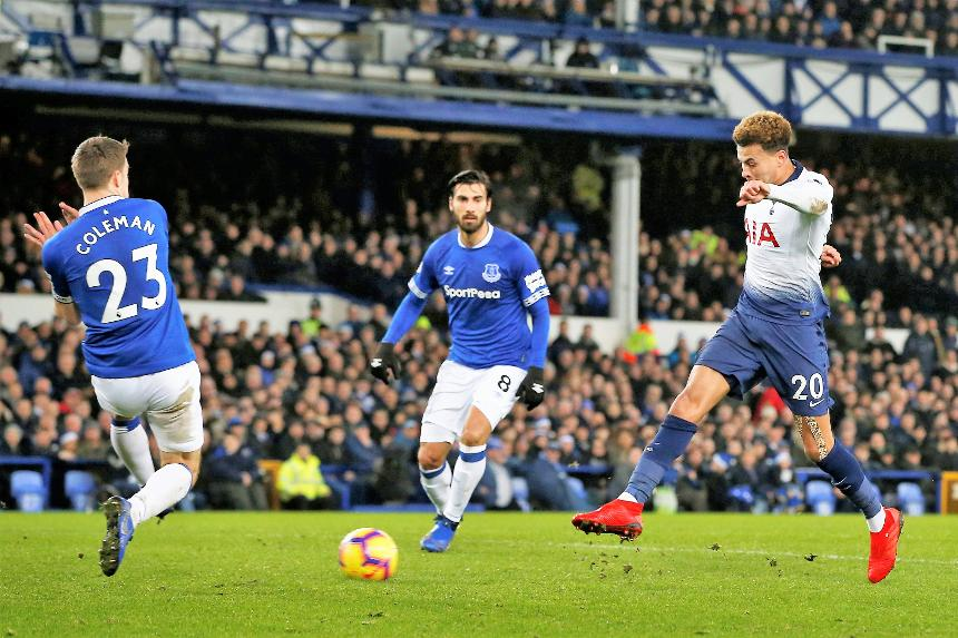 Dele Alli scores v Everton