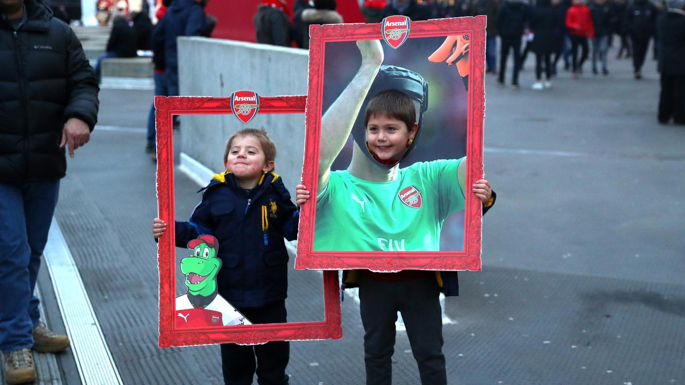 Arsenal junior fans