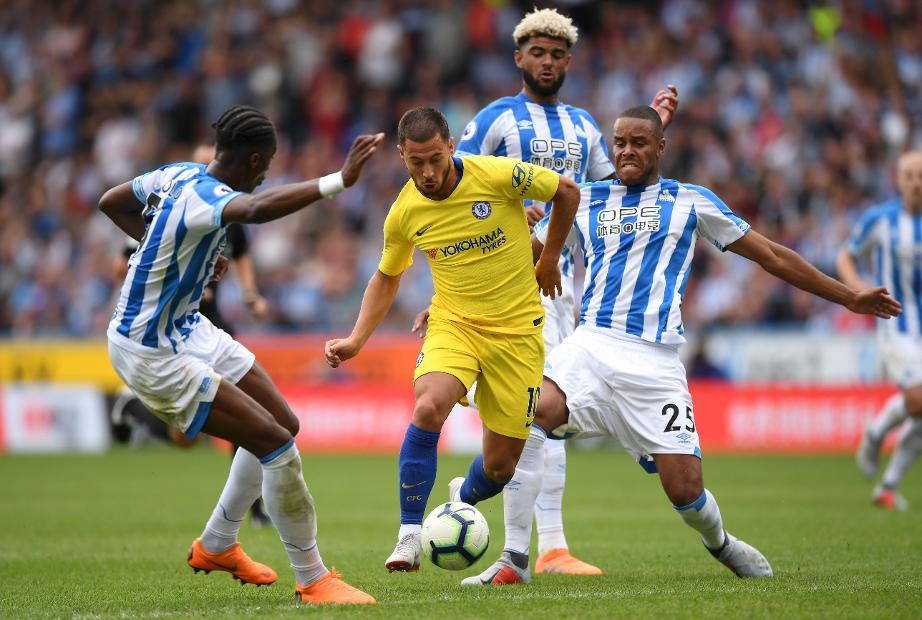 Eden Hazard v Huddersfield
