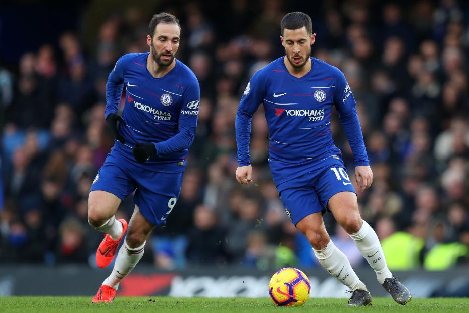 Gonzalo Higuain and Eden Hazard, Chelsea