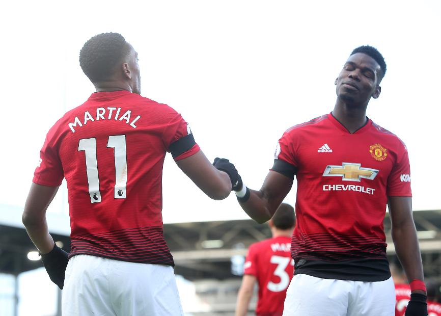 Anthony Martial and Paul Pogba, Man Utd