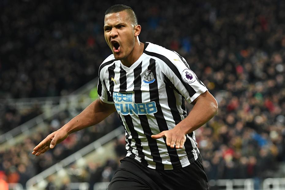 Salomon Rondon scores for Newcastle United against Manchester City