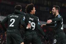 Flashback: First-half Man City flurry blows Arsenal away