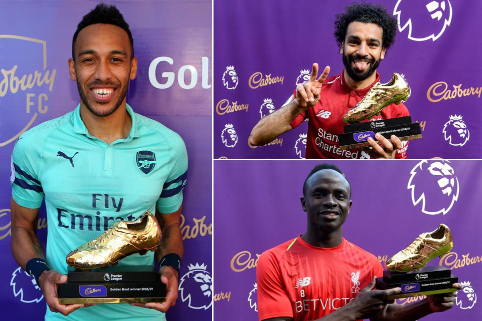 Aubameyang, Salah and Mane win 2018/19 Premier League Golden Boot