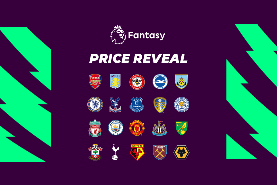 2021 22 Fpl Player Price Reveal