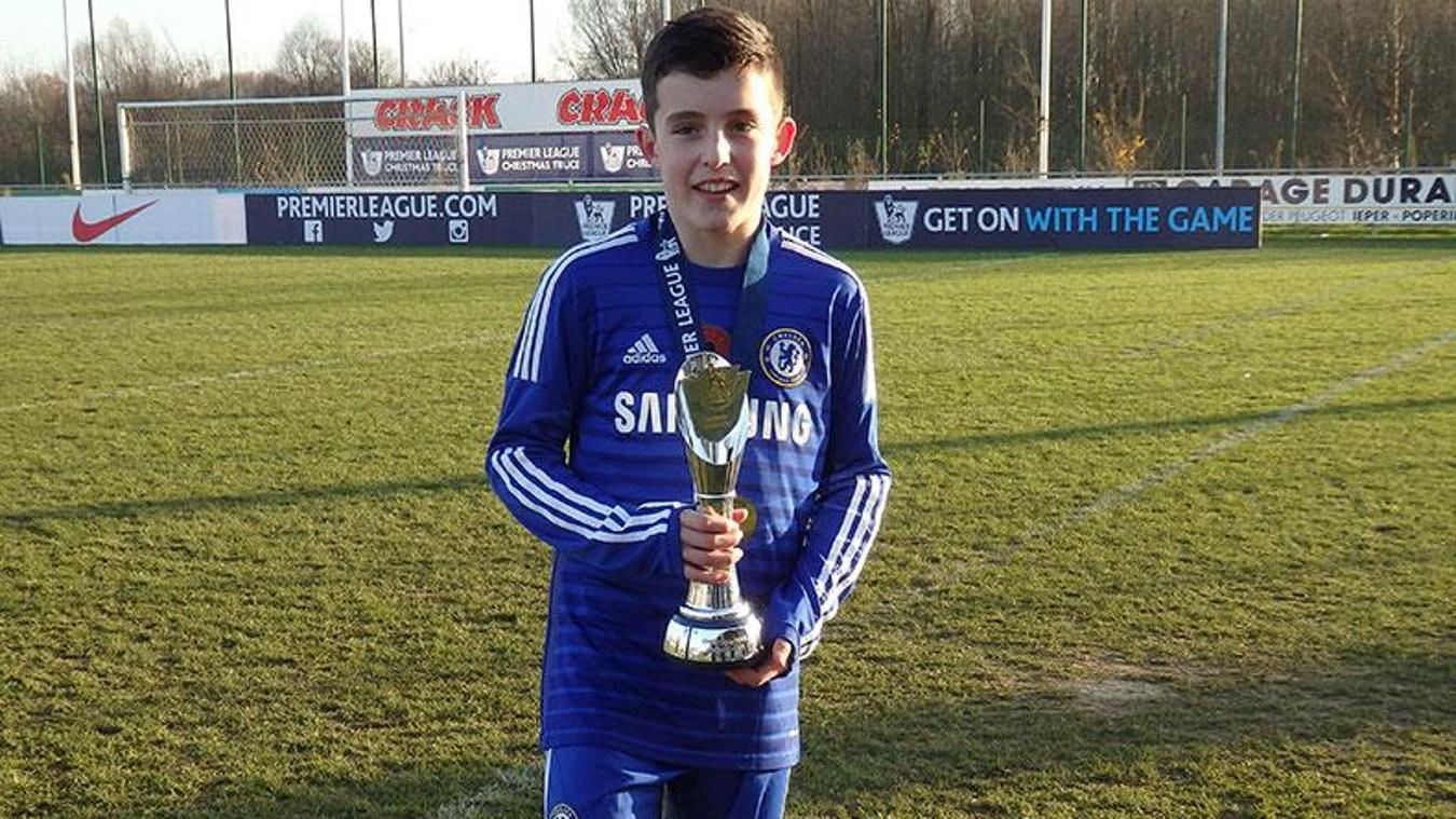 Livramento with the Premier League Christmas Truce International Tournament trophy